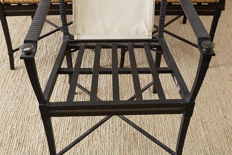 Six Andalusia Royal Lounge Gondola Chairs by Richard Frinier For Sale 4