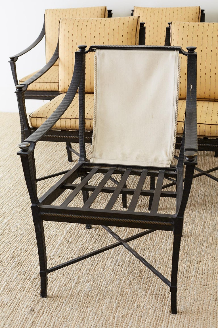 Six Andalusia Royal Lounge Gondola Chairs by Richard Frinier For Sale 5