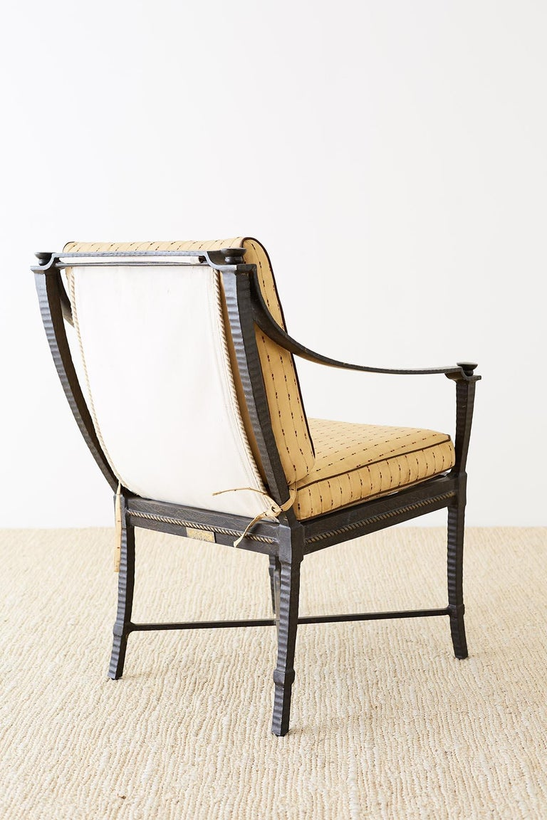 Six Andalusia Royal Lounge Gondola Chairs by Richard Frinier For Sale 11