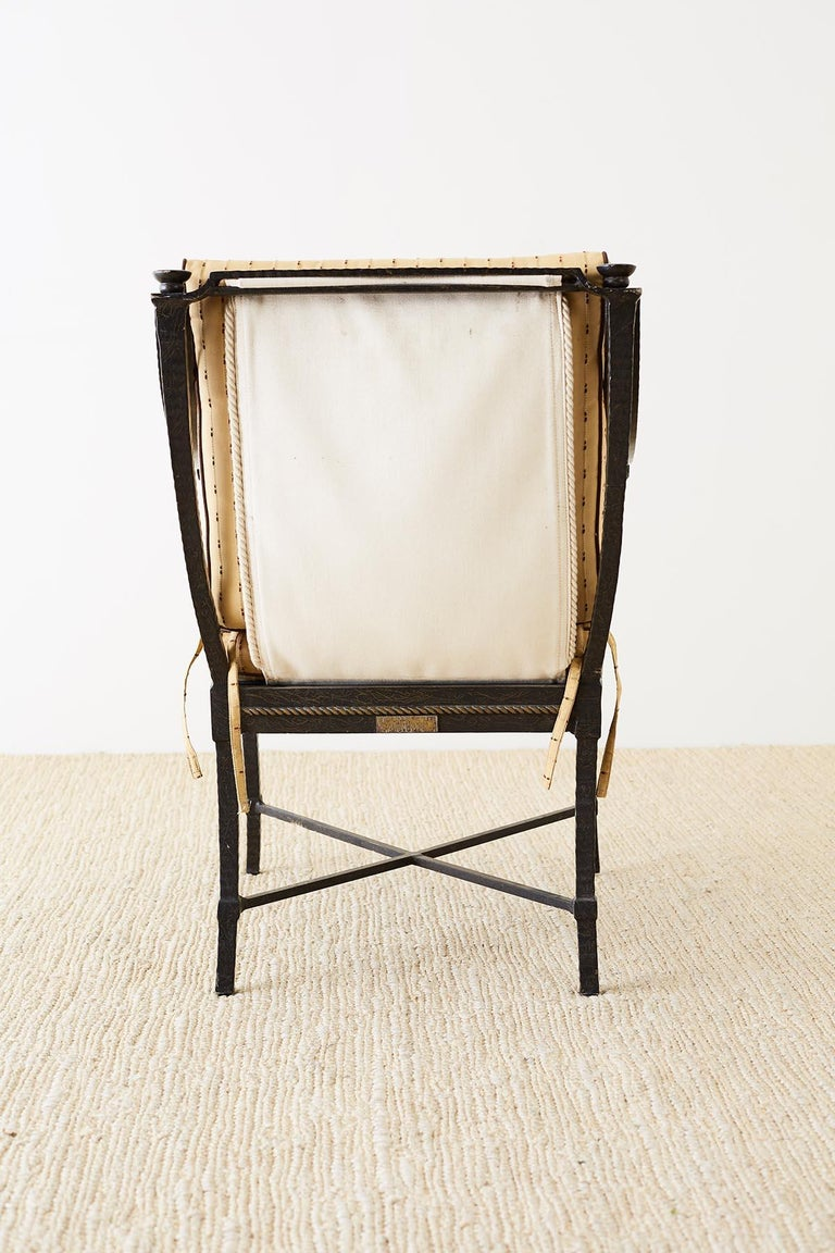 Six Andalusia Royal Lounge Gondola Chairs by Richard Frinier For Sale 12