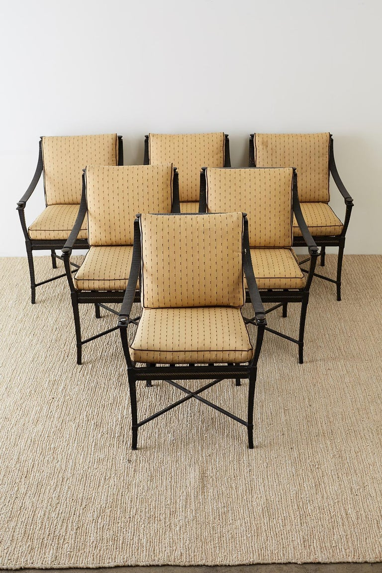 American Six Andalusia Royal Lounge Gondola Chairs by Richard Frinier For Sale