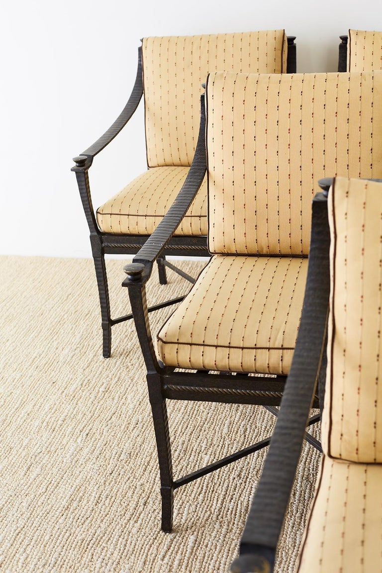 Powder-Coated Six Andalusia Royal Lounge Gondola Chairs by Richard Frinier For Sale