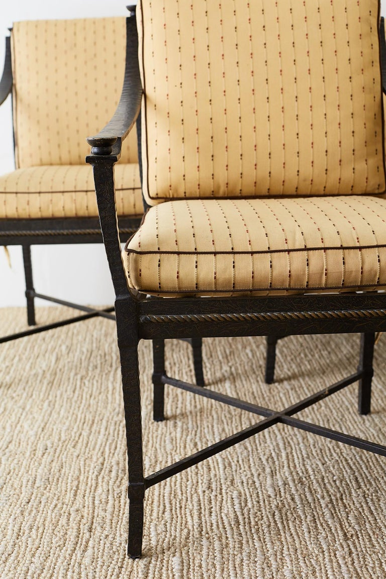 20th Century Six Andalusia Royal Lounge Gondola Chairs by Richard Frinier For Sale