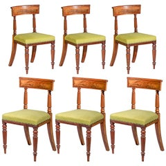 Six Antique Regency Dining Chairs, Early 19th Century, Design by George Bullock