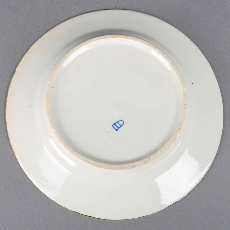 Six Antique Royal Vienna Classical Hand-Painted and Gilt Porcelain Plates For Sale 4