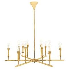 Six Arm Spanish Brass Chandelier
