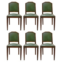 Six Art Deco Dining Chairs French circa 1930 Includes Recovering