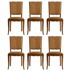 Six Art Deco Dining Chairs French Moustache Back to Restore or Customize