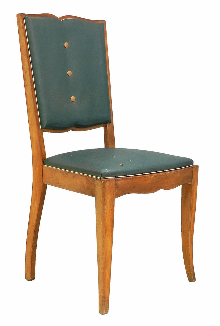 Six Art Deco Dining Chairs French Moustache Back to Restore or Customized In Good Condition In , FR