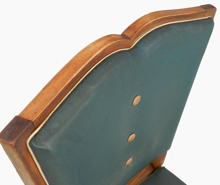 Mid-20th Century Six Art Deco Dining Chairs French Moustache Back to Restore or Customized