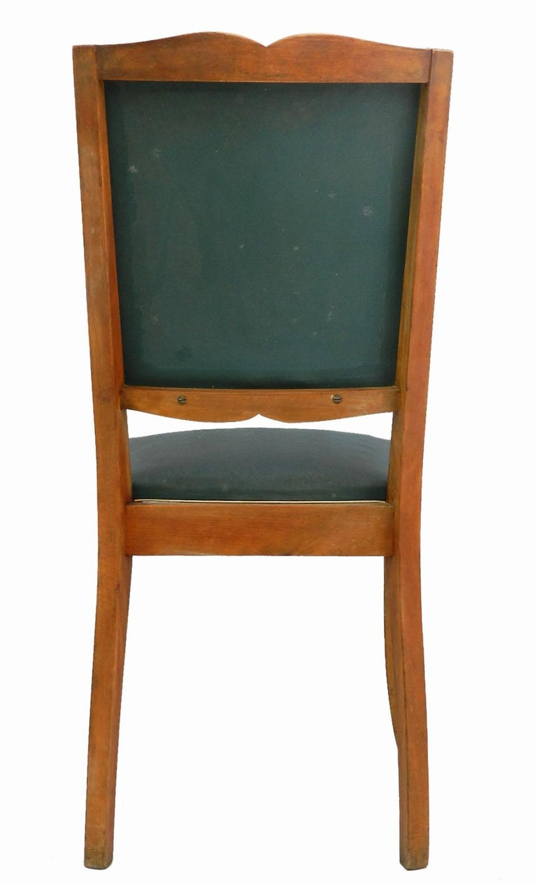 Upholstery Six Art Deco Dining Chairs French Moustache Back to Restore or Customized