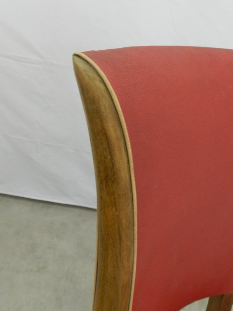 Six Art Deco Dining Chairs French to Recover / Restore, circa 1930 2