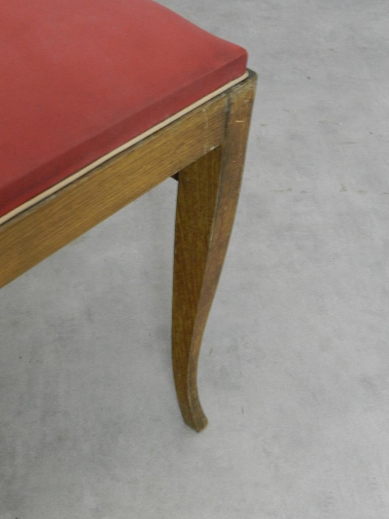 Six Art Deco Dining Chairs French to Recover / Restore, circa 1930 3