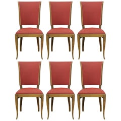 Six Art Deco Dining Chairs French to Recover / Restore, circa 1930
