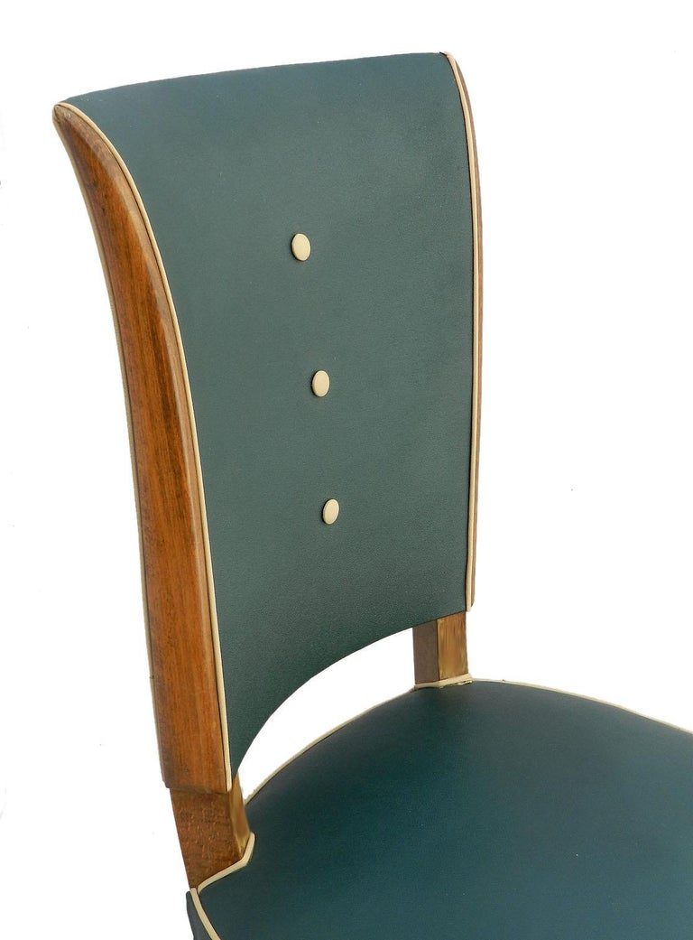 French Six Art Deco Dining Chairs Use or Recover and / or Customize For Sale