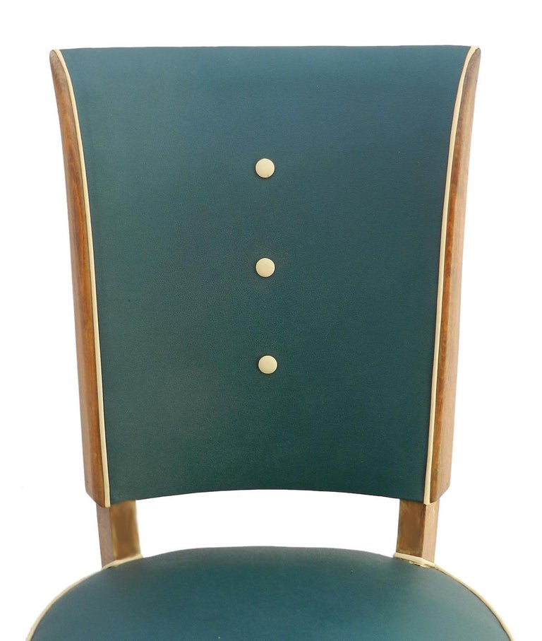 Six Art Deco Dining Chairs Use or Recover and / or Customize In Good Condition For Sale In , FR