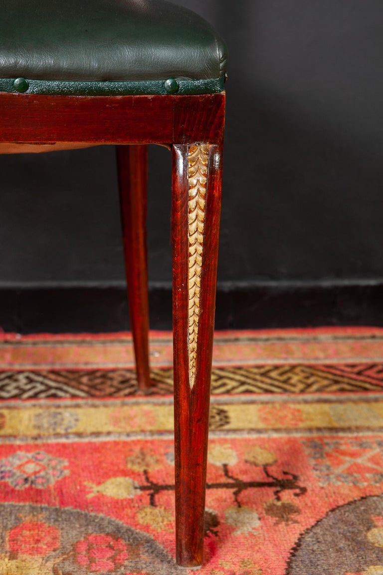 Mid-20th Century Six Art Deco Dining Room Chairs By Osvaldo Borsani 1940 For Sale