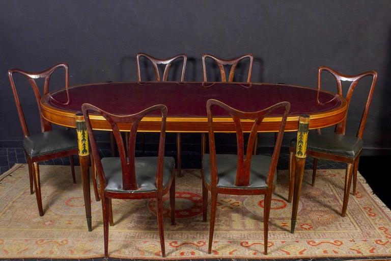 Six Art Deco Dining Room Chairs By Osvaldo Borsani 1940 For Sale 1