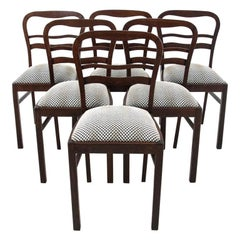 Six Art Deco Dining Room Chairs