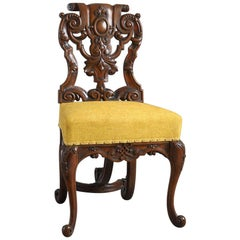 Six Baroque Walnut Chairs
