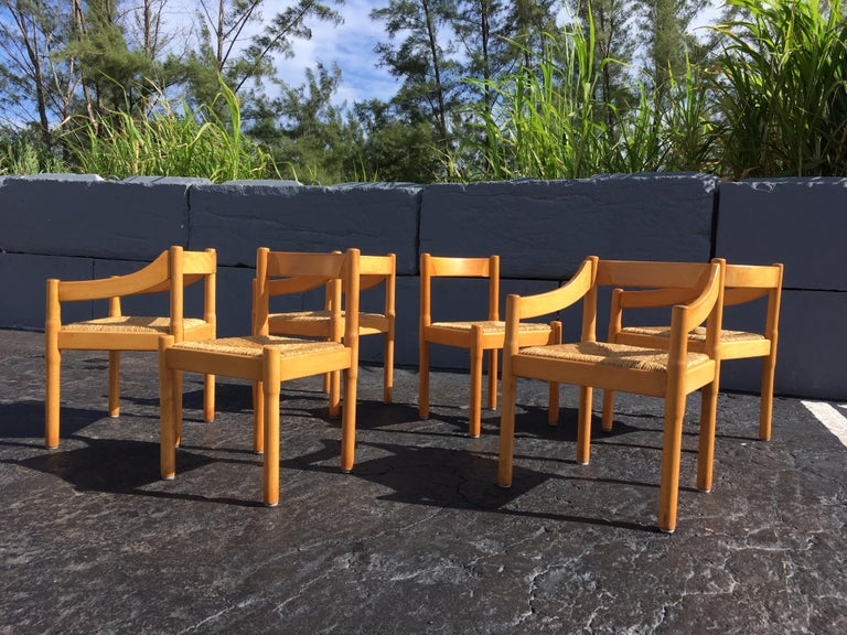 Six Carimate Dining Chairs by Vico Magistretti for Cassina 6