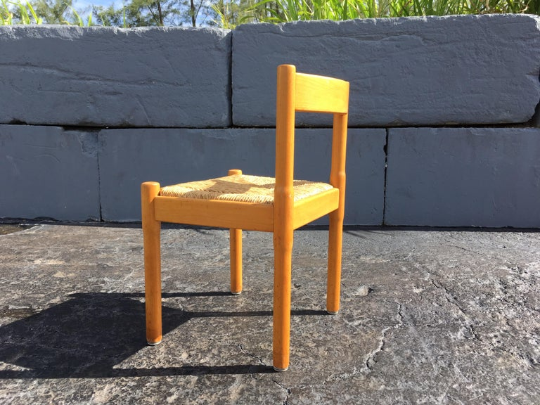 Six Carimate Dining Chairs by Vico Magistretti for Cassina In Good Condition In Opa Locka, FL