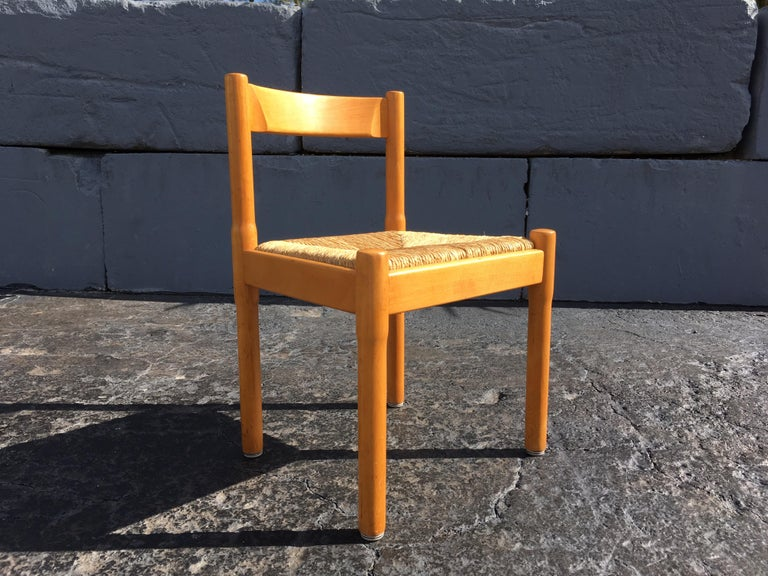 Late 20th Century Six Carimate Dining Chairs by Vico Magistretti for Cassina