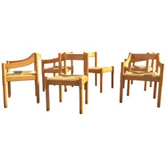Six Carimate Dining Chairs by Vico Magistretti for Cassina