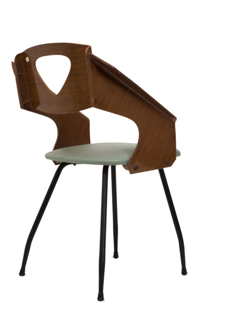 Italian Six Chairs by Carlo Ratti - 1950s For Sale