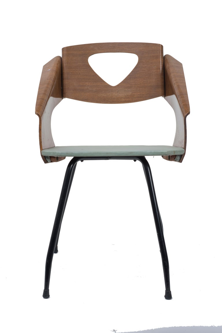 Plywood Six Chairs by Carlo Ratti - 1950s For Sale