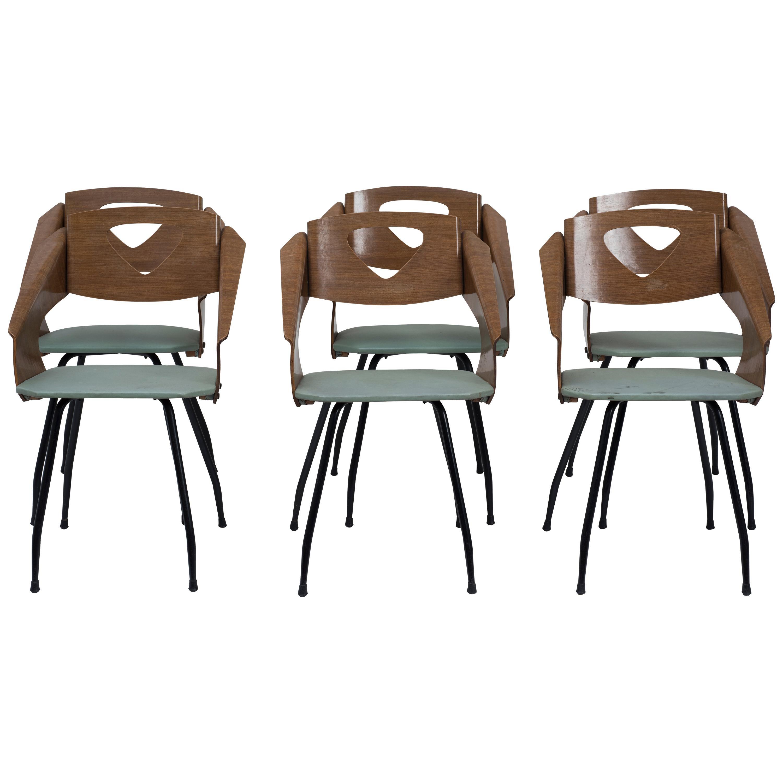 Six Chairs by Carlo Ratti - 1950s