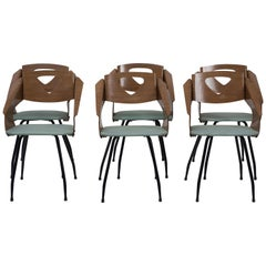 Six Chairs by Carlo Ratti - 1950s
