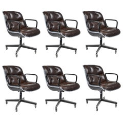 Six Charles Pollock Executive Desk Chair for Knoll
