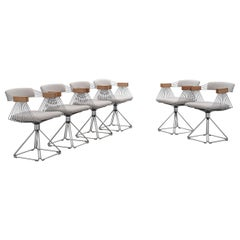 Six Chrome 'Delta' Chairs by Rudi Verelst, 1971
