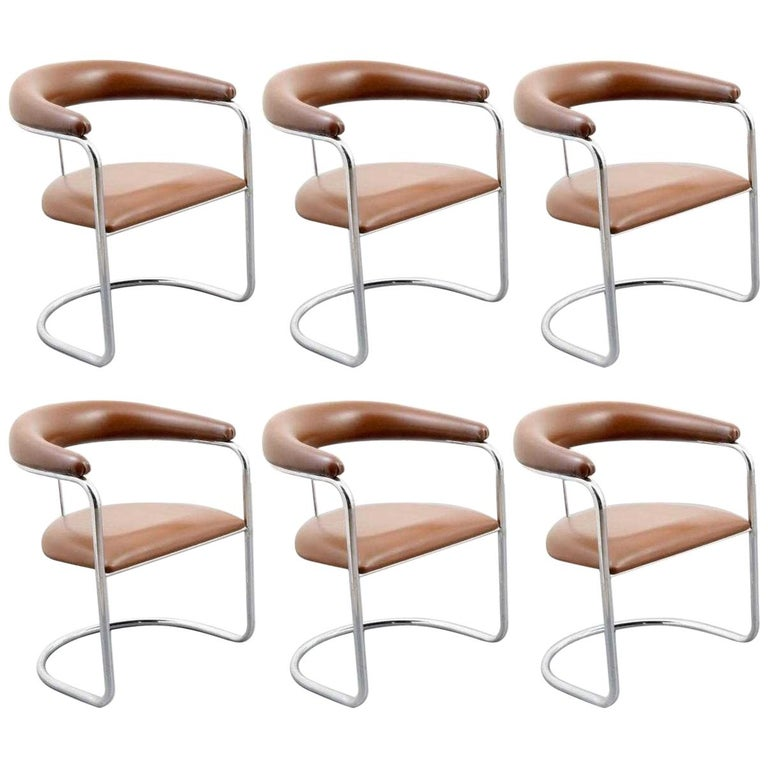 Six Classic Anton Lorenz for Thonet Dining Chairs For Sale