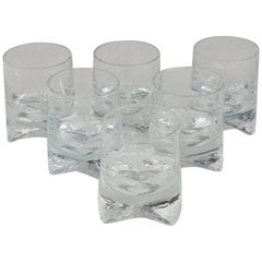 Six Clear Whiskey Bourbon Scotch or Rocks Glasses