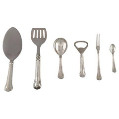 Six Cohr Serving Parts in Silver and Stainless Steel, Mid 20th Century