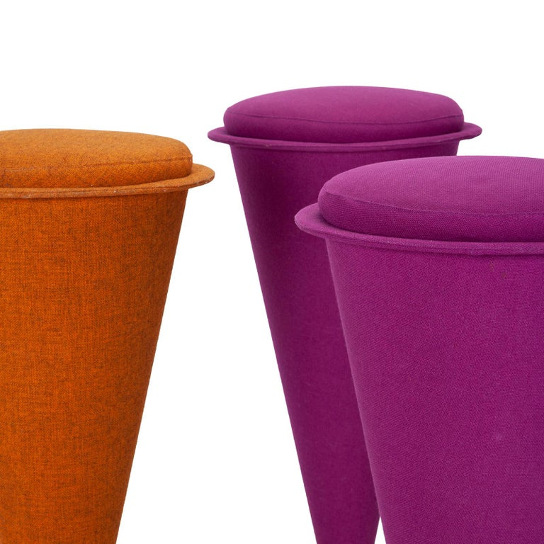 Six Cone Stools by Verner Panton In Good Condition For Sale In Copenhagen, DK