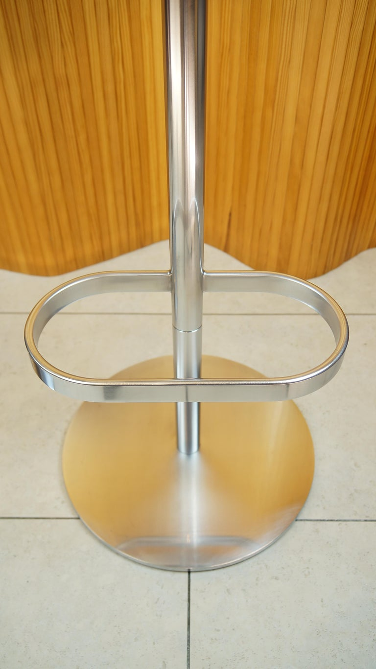 Six Cream Leather Walter Knoll Turtle Bar Counter Stools
