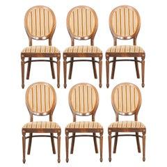 Six Danish 20th Century Louis XVI Style Dining Chairs
