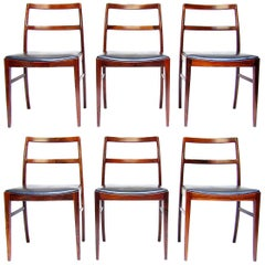 "Six Danish ""430"" Dining Chairs in Rosewood by Arne Vodder for Sibast"