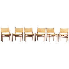 Six Danish Dining Chairs CH 31 by Hans Wegner for Carl Hansen in Oak, Denmark