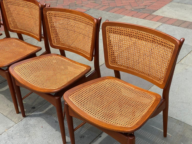 20th Century Six Danish Finn Juhl For Baker Dining Room Chairs, 1960s For Sale