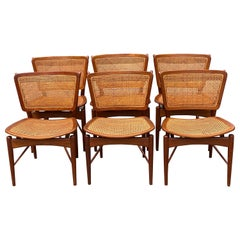 Six Danish Finn Juhl For Baker Dining Room Chairs, 1960s