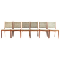 Six Danish Johannes Andersen Teak Midcentury Dining Chairs