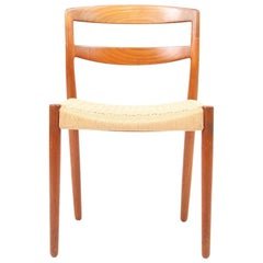 Six Danish Modern Side Chairs in Teak by Willy Beck