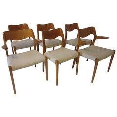 Six Danish Teak Dining Chairs by Niels Otto Moller for J.L. Moller