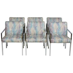 Six Design Institute of America DIA Mid-Century Modern Chrome Dining Chairs