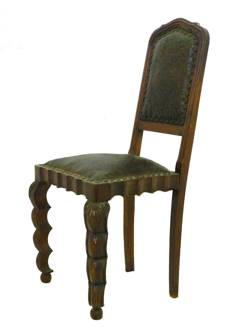 Italian Six Dining Chairs 1910 Art Nouveau Art Deco Rare Find Hollywood Grotto