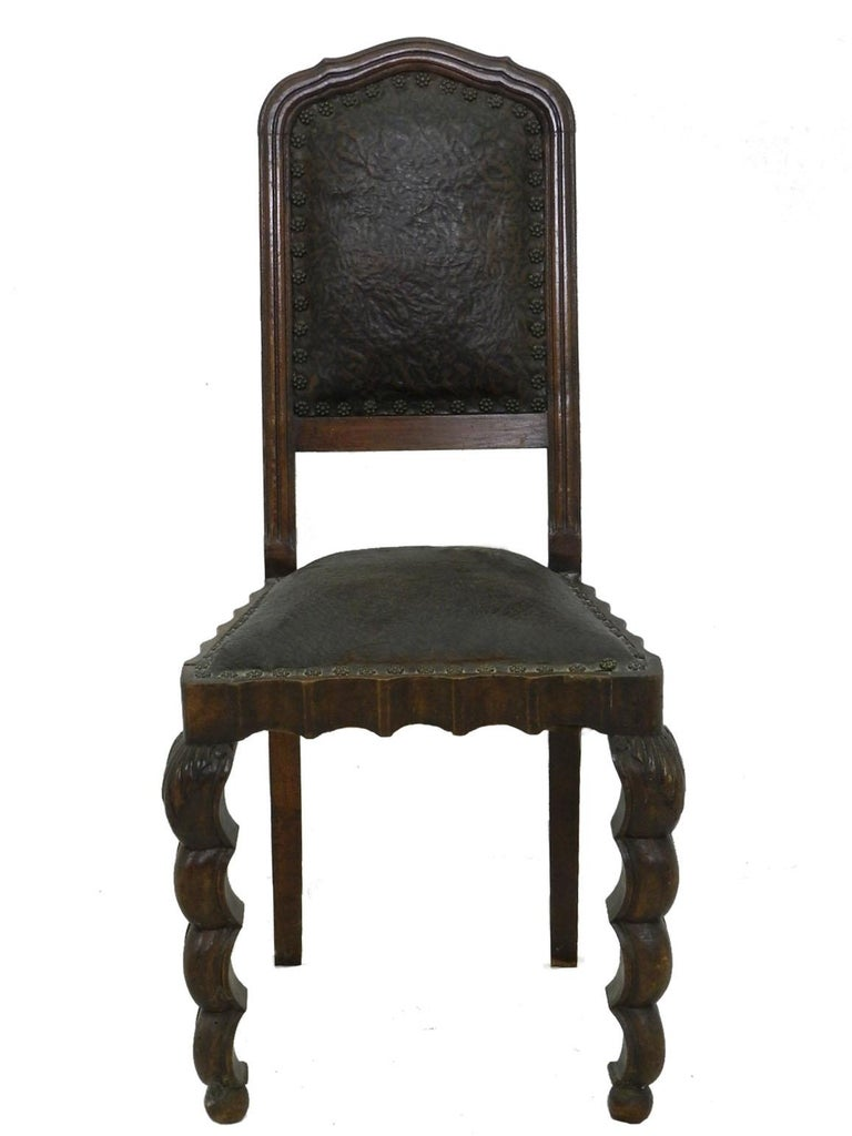 19th Century Six Dining Chairs 1910 Art Nouveau Art Deco Rare Find Hollywood Grotto